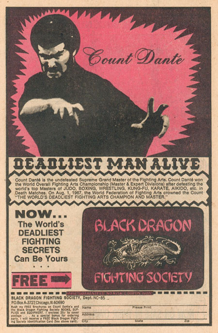 Deadliest Man Alive Comic Book Advert