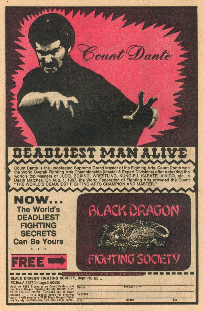 1975 Detective Comics Advertisement: Researched by Dan Kelly